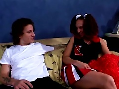 Serena Marcus The Sexy Cheerleader Gets Pounded On A Sofa Porn Videos