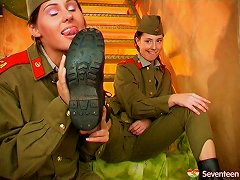Female Army Officers Have A Steamy & Hot Lesbian Affair Porn Videos