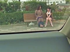 Asian Teens Sitting On The Bench And Flashing Panty Upskirts Upornia Com Porn Videos