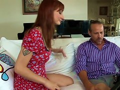 Gorgeous Redhead With A Hairy Pussy Enjoying A Hardcore Anal Fuck Porn Videos