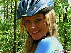 Stunning Girl Riding Her Bike & Exposing Her Glorious Teen Pussy Porn Videos
