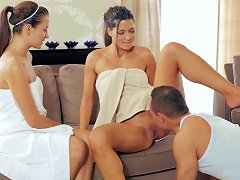 Naughty Threesome Sex At The Spa With Two Girls Porn Videos
