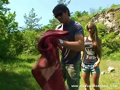 Brunette  Nessa Lets Patrick Fuck Her Holes Doggy Style Outdoors Porn Videos