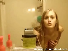 Sexy  Teen Does A Striptease After Shower Porn Videos