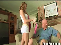 Young, Horny And Broke Slut Makes Porn With Old Guy! Porn Videos