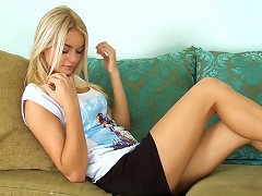 Beautiful Babe With Long Legs Masturbates At The Sofa Porn Videos