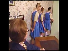 Naughty Schoolgirls Line Up For Their   Punishment Porn Videos