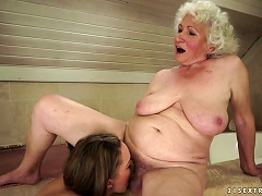 Kinky Teen And Horny Grandma Licking Pussy In Lesbian Video Porn Videos