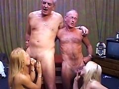 Young Blondes Pleasing Old Studs Porn Videos