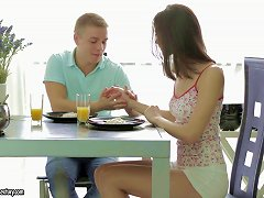 Teen Craves Incredible Anal Sex After A Tasty Breakfast Porn Videos