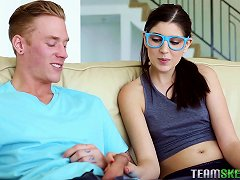 Adorable, Nerdy Girl In Glasses Loves To Take It In The Ass Porn Videos