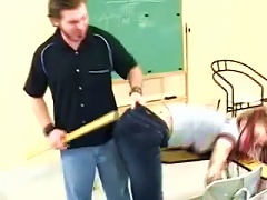 Sexy Redhead Teen's Spanked By Her Teacher In Class Porn Videos