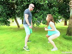 Bald Head Stud Undresses His Wife Outdoors For A Thorough Smashing In A Close Up Shoot Porn Videos