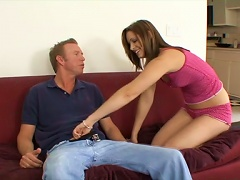 Some Passion On The Couch With A Slender Siren Brooke Logan Porn Videos