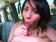 Teen Babe Filling Her Mouth With A Huge Cock In Bus Porn Videos