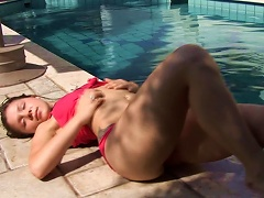 Tattooed Teen Is Lying At The Poolside Porn Videos