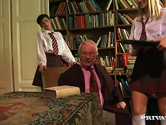 Hot Teens In School Uniform Get Fucked By An Old Dude Porn Videos