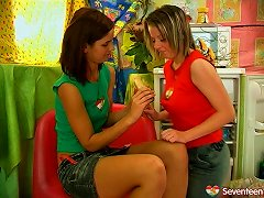 Impressively Hot Brunette Teeny Lesbians Enjoy Licking And Teasing Their Muffs Porn Videos