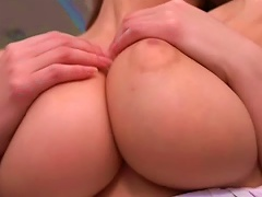 Alli Touches Her Very Big Natural Boobs Porn Videos