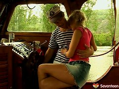Adorable And Salacious Teen Gets Fucked Deep By A Horny Sailor On The Boat Porn Videos