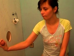 Short-haired Brunette Suck A Dick In The Toilet Porn Videos