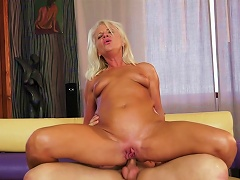 Old Blonde Anett Being Fucked By A Young Dick Porn Videos