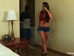 Super Slutty Teen Fucks A Black Cock On The Bed Porn Videos