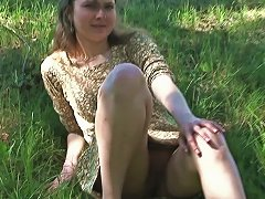 Pretty Teenage Girl Masha Exposes Her Pussy On Camera Near The Road Porn Videos