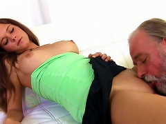 Sexy Young Chick Alyona Fuck With Old Man Porn Videos