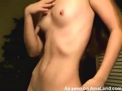 Teen With Small Tits In Tiny Black Strings Stripping Porn Videos