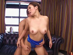 Shiny Blue Leotard On An Asian Teen Babe Taking Big Cock Porn Videos
