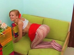 Patterned Pantyhose Cling To Young Ass Porn Videos