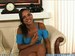 Beautiful Sweet Ebony Teen Angie Smith Sucks A  Cock In Porn Videos