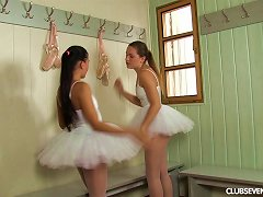 Ballerinas Get Naked And Shower Together While Fucking Porn Videos