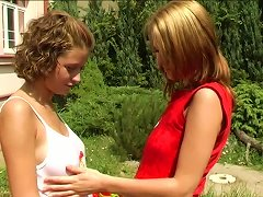 How About Watching These Two Lesbians Drilling Their Muffs Outdoors Porn Videos