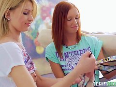 Redhead Shows Her Hot Blonde Friend How To Use A Sex Toy Porn Videos