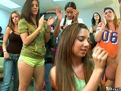 A Few Cute Teens Show Their Blowjob And Handjob Skills To Some Dudes Porn Videos