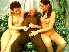 Old Bald Dude Is Insane Ing Two Young Pussies Porn Videos