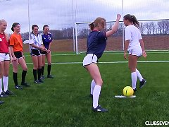 Girls On A Soccer Team Strip Down And Play The Game Naked Porn Videos