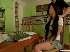 Teen And Her Study Buddy Have Big Cock Sex In The Kitchen Porn Videos