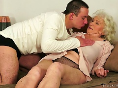 Norma The Old Bitch Gets Fucked By Much Younger Dude Porn Videos