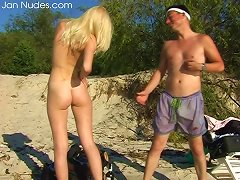 Bold Blonde Strips Down And Bathes Naked In A River Porn Videos