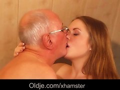 Old Man Fucks Young Blonde Masseuse Cums In Her Mouth Porn Videos