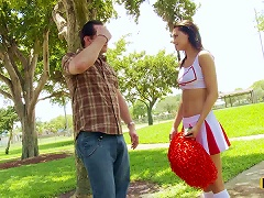 Hot Brunette Cheerleader Mimi Rayne Cheering For Cock Porn Videos