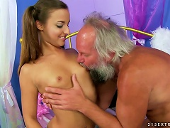 Amirah Adara Gets Her Pussy Toyed By Some Lewd Old Dude Porn Videos