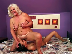 Judi Makes This Granny Feel So Good And So Happy Porn Videos