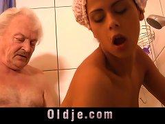 Grandpa Fucking Horny Hot Creole Teen Under Shower Porn Videos